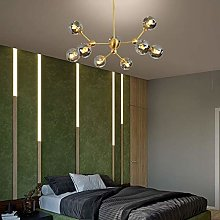 WHLMYH Chandeliers,Clear Glass Ball Branch