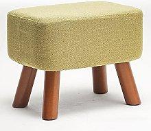 WHOJA Upholstered Footstool Ottoman Change Shoe