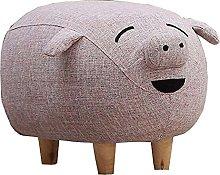 WHOJA Upholstered Footstool Ottoman Pig shape