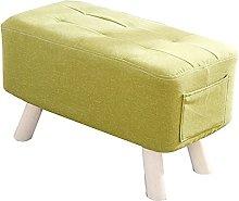 WHOJA Upholstered Footstool Ottoman Pocket Design