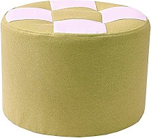 WHOJA Upholstered Footstool Ottoman Square pattern