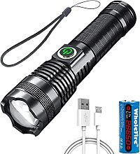 WholeFire XHP70 High Power Flashlight 5000 Lumens