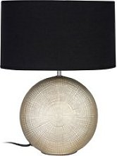 Whoopty Black Fabric Shade Table Lamp With Gold