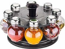 Whopper Revolving Plastic Spice Rack 8 Pieces