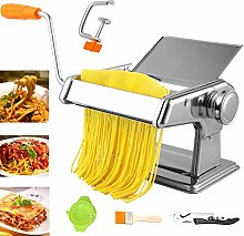 WHOVO Pasta Machine, Stainless Steel Manual Pasta