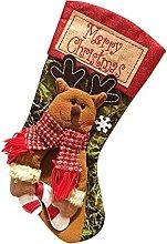 WHXL Christmas Stockings Linen Cartoon Xmas