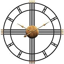 Whyzb Large Wall Clock 50cm Modern Large Black