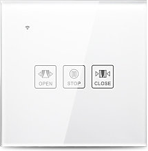 Wi-Fi Smart Curtain Touch Switch Glass Panel Voice