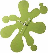 WI Infinity Splat Clock Green