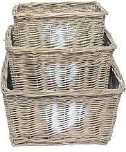 Wicker 3 Piece Basket Set Brambly Cottage Colour: