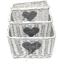 Wicker 3 Piece Basket Set Brambly Cottage Colour: