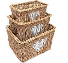 Wicker 3 Piece Basket Set Brambly Cottage