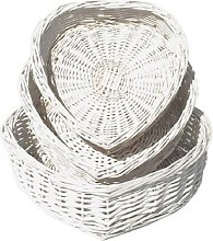 Wicker 3 Piece Basket Set House of Hampton Colour: