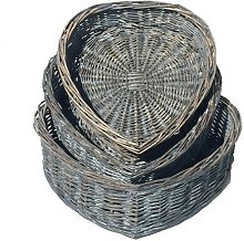 Wicker 3 Piece Basket Set House of Hampton