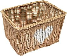Wicker Basket Brambly Cottage Colour: Oak, Size: