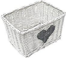 Wicker Basket Brambly Cottage Colour: White, Size:
