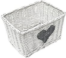 Wicker Basket Brambly Cottage Colour: White, Size: