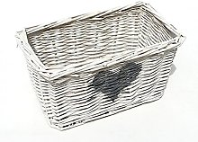 Wicker Basket Brambly Cottage Colour: White