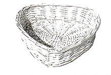 Wicker Basket Brambly Cottage Colour: White