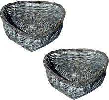 Wicker Basket House of Hampton Colour: Grey, Size: