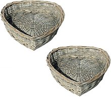 Wicker Basket House of Hampton Colour: Oak, Size: