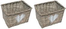 Wicker Basket Set Brambly Cottage Colour: Grey,