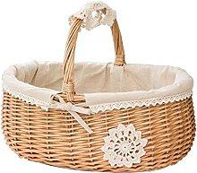 Wicker basket Willow Shopping Storage Basket