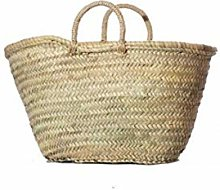 Wicker & Co Palm Basket with Handle 40 x 24 cm,