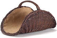 Wicker Firewood Basket with Jute Set 700 x 280 x