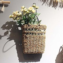 Wicker Flower Basket Handmade Rattan Plant Basket
