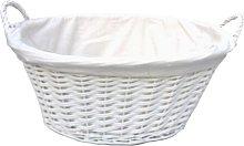 Wicker Laundry Basket Brambly Cottage Size: 22cm H
