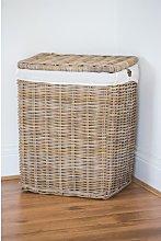 Wicker Laundry Bin Beachcrest Home Size: Small (51