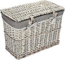 Wicker Laundry Bin Rebrilliant