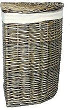Wicker Laundry Bin with Corner Linen Brambly
