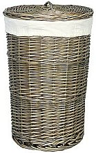 Wicker Laundry Bin with Lining Brambly Cottage