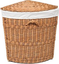 Wicker Lined Corner Laundry Basket August Grove