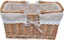 Wicker Picnic Basket Shopping Basket Shopping