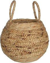 Wicker Round Basket Beachcrest Home Colour: Beige,