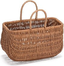 Wicker Shopping Basket Breakwater Bay