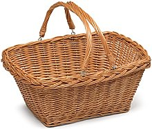 Wicker Shopping Basket with Handles