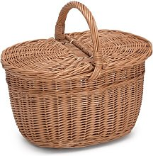 Wicker Shopping Basket With Lid Brambly Cottage