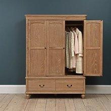 Wickham Washed Oak Triple Wardrobe