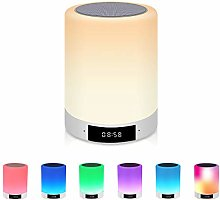 Widamin Bluetooth Speaker Lamp, Smart Touch Night