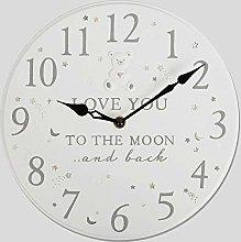 Widdop Bambino Love You To The Moon & Back Clock