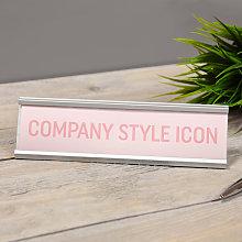 Widdop - Company Style Icon Pink Desk Plaque