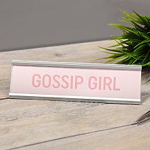 Widdop - Gossip Girl Pink Desk Plaque