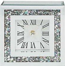Widdop Hestia Crystal Border Mantel Clock 15cm