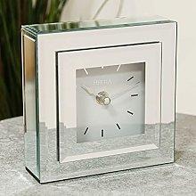 Widdop Hestia Double Layer Silver Glass Mantel