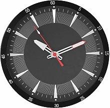 Widdop Hometime Round Wall Clock Black Dial