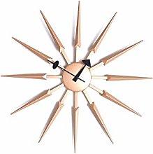 Widdop HOMETIME Sunburst Wall Clock Rose Gold with
